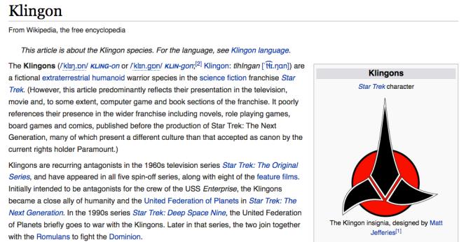 klingon-wiki-entry