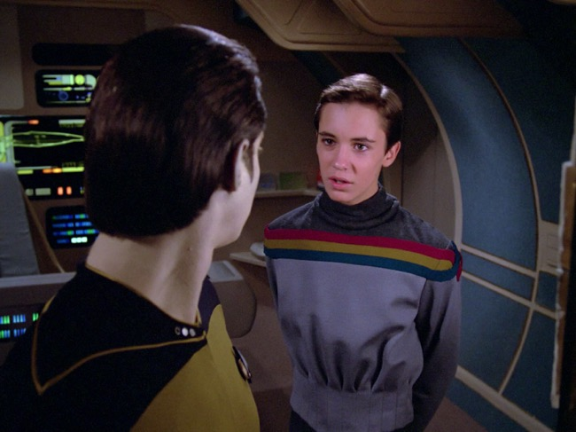 Wesley Crusher acting ensign