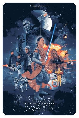 Star Wars TFA poster vintage style